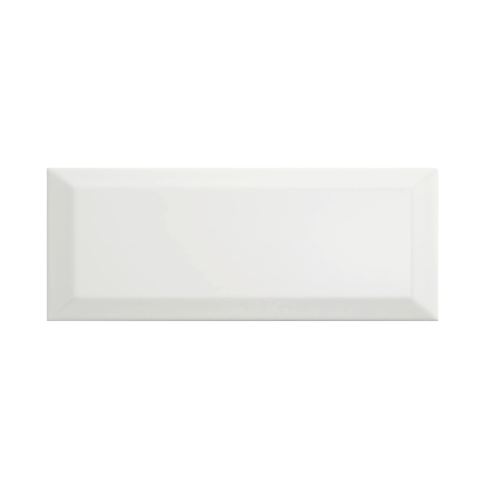 Bevelled White Gloss 10 x 30 cm