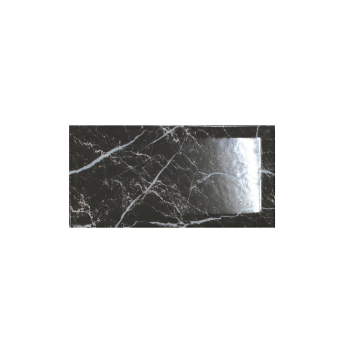 Marquina Nero Bevelled Edge Gloss - Wall Tile - 10 x 20 cm