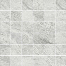 Load image into Gallery viewer, Valstein Light Grey (Weiss) Porcelain Mosaic - Wall Tile - 30 x 30 cm