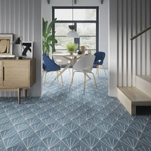 Load image into Gallery viewer, Starburst Sea Blue - Wall & Floor Tile - 23.2 x 26.7cm