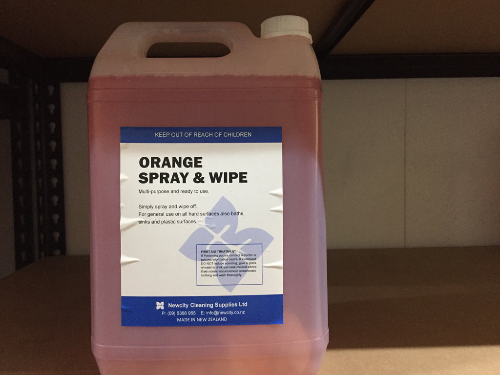 Orange Antisep Spray Wipe