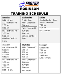 robinson-training-schedule