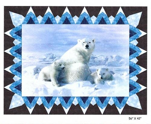 Glacier Polar Bear Fabric Kit