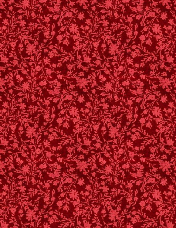 Twined Floral Red