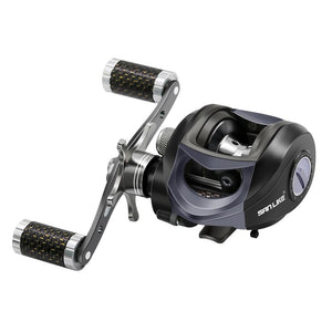 SANLIKE Baitcasting Fishing Reel Max Drag Power Gear Ratio Magnetic Brake Carbon Fiber Knob Fishing Reels