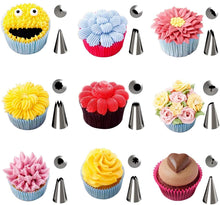 Load image into Gallery viewer, KOMCLUB Cake Accessory Tool 1 Cake Plate Rotating Cake Stand Icing Nozzles Set 48 Stainless Steel Nozzles