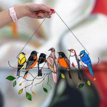 Load image into Gallery viewer, Birds Stained Glass Window Hangings - Mothers Day Gift