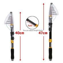 Load image into Gallery viewer, SANLIKE 1 Set of Fishing Rods Telescopic Spinning Fishing Rod 5+1BB and Reel Combos