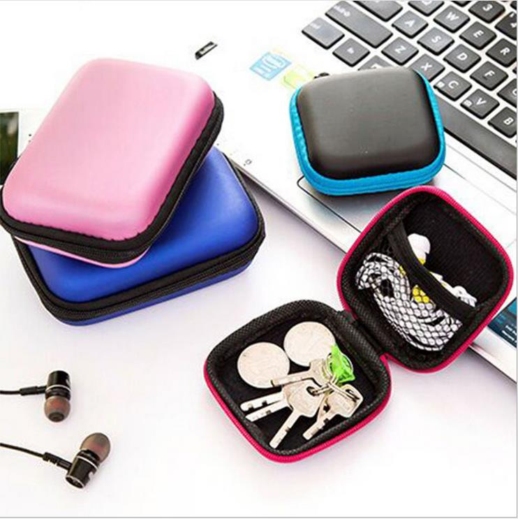 Cute portable data cable storage bag change zipper bag mobile phone cable earphone box storage box finishing bag wholesale
