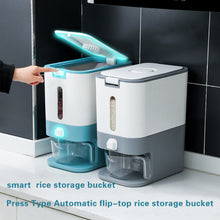 Load image into Gallery viewer, KOMCLUB 12kg Household Rice Tank  Insect-proof and Moisture-proof Sealed Rice Box Noodle Bucket