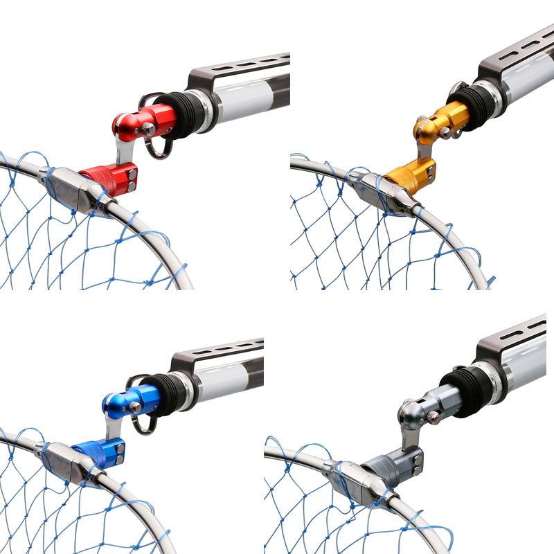 SANLIKE Aluminum Folding Joint Fishing Pole Converted into Dip Net Adapter Joints Connector