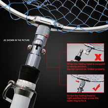 Load image into Gallery viewer, SANLIKE Aluminum Folding Joint Fishing Pole Converted into Dip Net Adapter Joints Connector