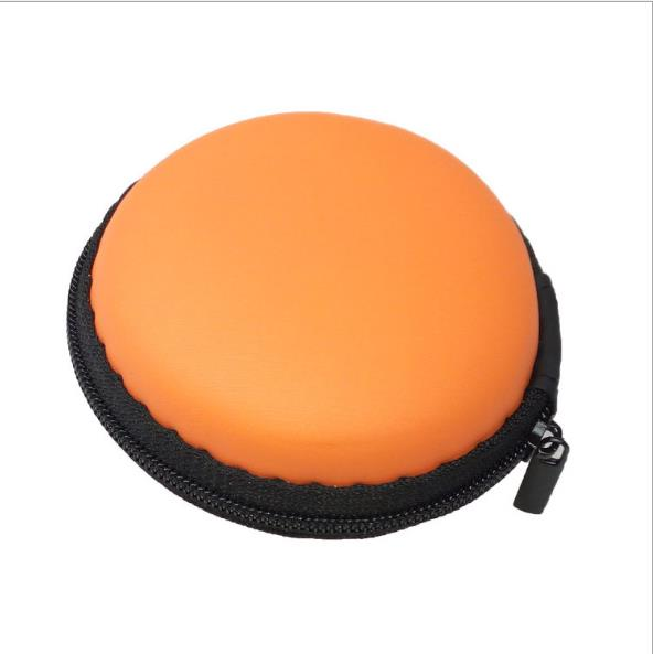 Round earphone bag EVA earphone bag earphone storage bag can be customized color size
