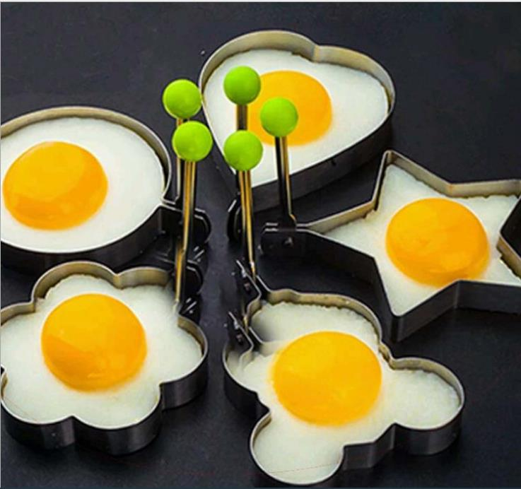 Hot 430 stainless steel omelette kitchen omelette mold poached egg grinding tool DIY baking omelette gadget