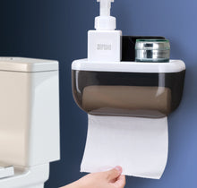 Load image into Gallery viewer, KOMCLUB Punch-Free Toilet Trays Waterproof Toilet Paper Rack