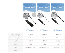 Load image into Gallery viewer, SANLIKE EVA Handle Telescopic Pole Rubber Coated Waterproof Nylon Set