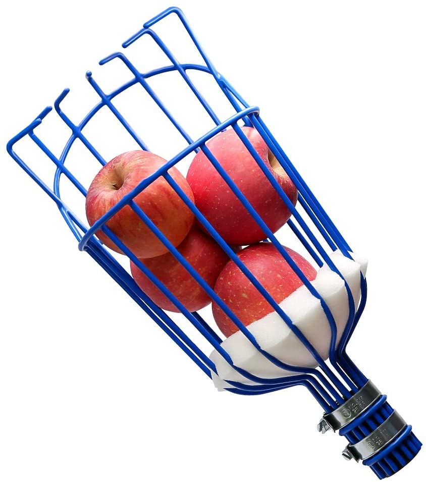 KOMCLUB Fruit Picker Basket Head for Apple Avocado Lemon Peach Fruit Tree Grabber Tool Outdoor Deep Basket Garden Tools