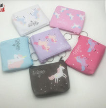 Load image into Gallery viewer, New digital print unicorn change holder bag creative cartoon key bag customized