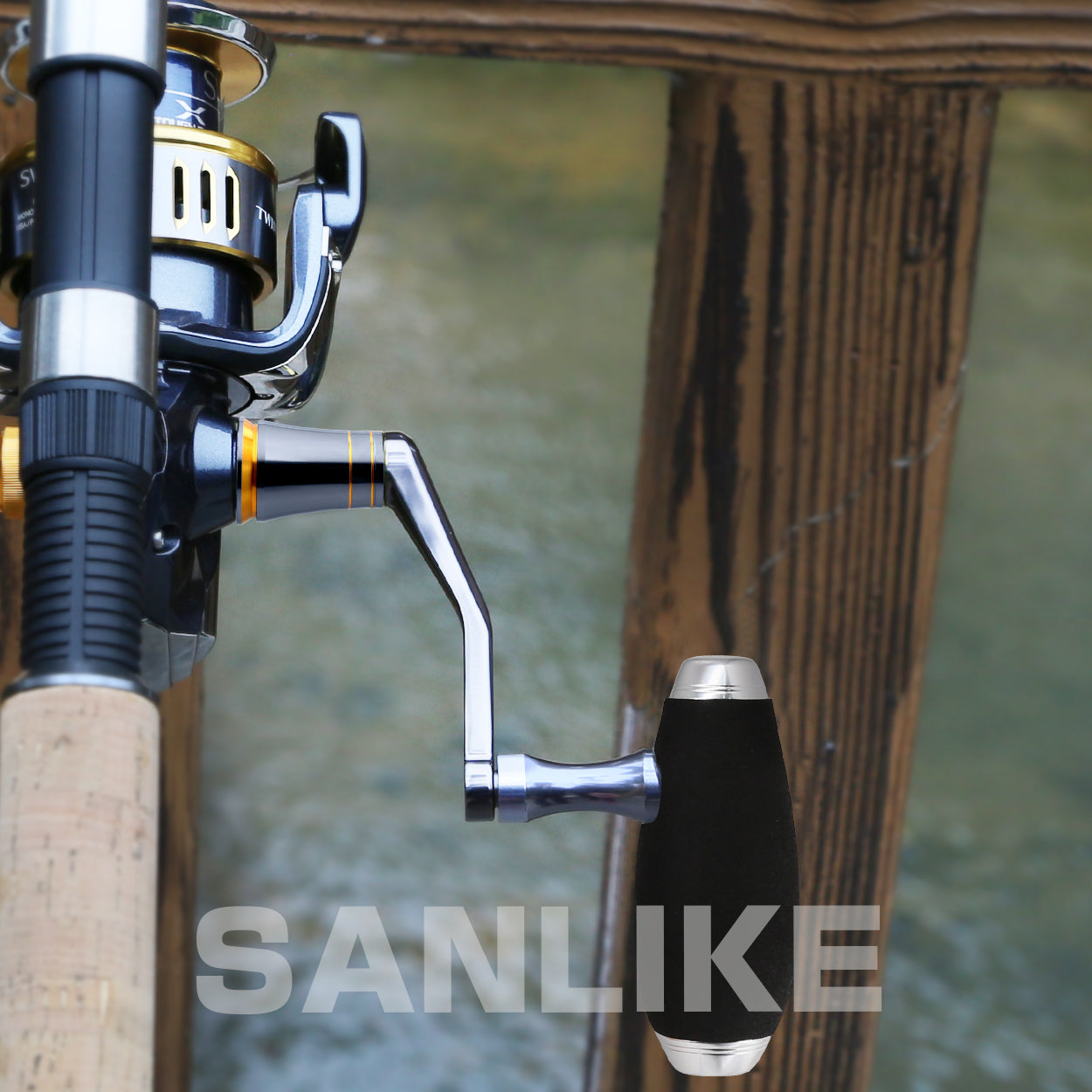 SANLIKE Aluminum Alloy Fishing Reels Handle For Shimano Spinning Reel
