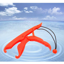 Load image into Gallery viewer, Sanlike Solid Plastic Fishing Lip Grip Gripper Holder Floating Grabber Plier Controller Portable Fishing Pliers Pesca Tools