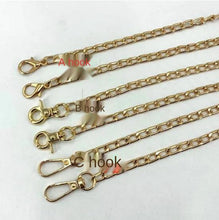 Load image into Gallery viewer, 1.8 light gold NK chain shoulder strap bag chain