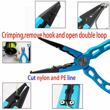 Load image into Gallery viewer, SANLIKE New Fishing Tackle Aluminum Alloy Fishing Pliers Split Ring Cutters Fishing Holder Tool For Saltwater Fishing Wholesale