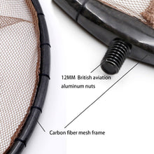 Load image into Gallery viewer, Super Light Weight Folding Fishing Landing Net Carbon fiber Pole Handle Fishing Tackle Equipment Accessories Fishing Japan