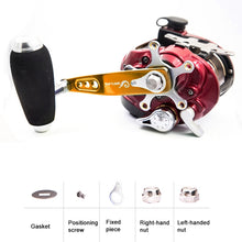 Load image into Gallery viewer, SANLIKE Aluminium Fishing Handle Knob 5*8MM Suitable for S&D Jigging Trolling Reel Tackle Tools Left Right Hand
