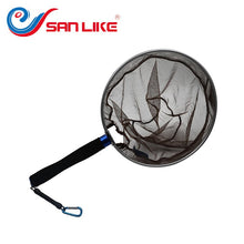Load image into Gallery viewer, SANLIKE fishing net Aluminium mesh Nylon Fishing Landing Dip Net Fishing tools Tackle Fishing Accessories