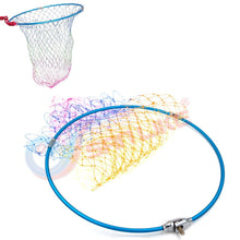Load image into Gallery viewer, Sanlike Folding Aluminum Alloy Fly Fishing Net Mesh Aluminum Frame for Landing Kayak fishing Carp Fishing Landing Net Fish Trap