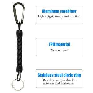 8pcs Fishing Lanyards Ropes Retention String Rope Fishing Camping Snap Secure Lock Fishing Tackle Tool Accessories