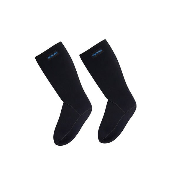 SANLIKE  Incomplete Waterproof Socks Ventilation Neoprene Socks Boots for Diving Skiing Surfing Fishing Black