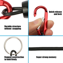 Load image into Gallery viewer, 8pcs Fishing Lanyards Ropes Retention String Rope Fishing Camping Snap Secure Lock Fishing Tackle Tool Accessories