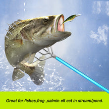 Load image into Gallery viewer, SANLIKE Stainless Steel Tine Fishing Gaffs Fishing Harpoon 5 Prong Fishing Gig Barbed Salmon with 8mm Screw