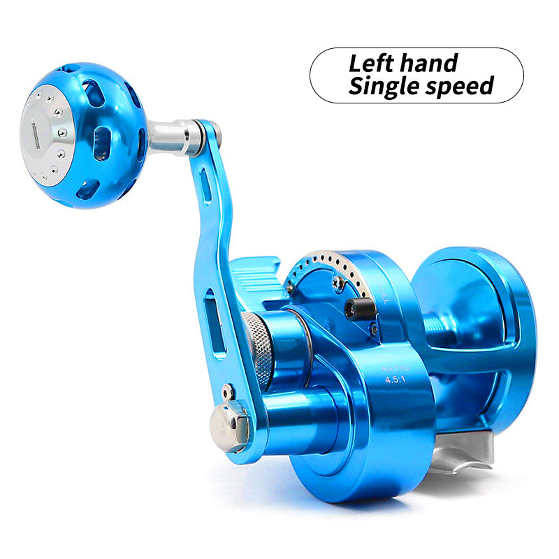 SANLIKE Fishing Reel Pesca 5.7:1 9BB+1 Baitcasting Saltwater Sea Fishing Reels Surfcasting Drum Reel Aluminum