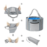 KOMCLUB Household Waterproof Folding Bucket Bubble Foot Basin Travel Outdoor Car Washing Disaster Prevention Camp Storage Bag Outdoor Cooler Wash Tub Collapsible Bucket Bucket Water Folding Bucket