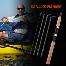 Load image into Gallery viewer, SANLIKE Baitcasting Fishing Rod Carbon Fiber Rod Four Section Travel Lure Rod For Saltwater Freshwater Fishing