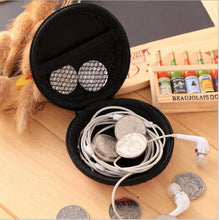 Load image into Gallery viewer, Round earphone bag EVA earphone bag earphone storage bag can be customized color size