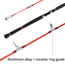 Load image into Gallery viewer, SANLIKE Telescopic Fishing Rod Carbon Fiber Spinning Pole Super Hard Fishing Pole for Saltwater Freshwater Fishing Parade