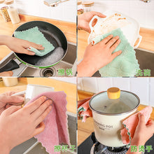 Load image into Gallery viewer, KOMCLUB 20pcs 10pcs 1pcs Double Layer Dishcloth Kitchen Cloth Coral Cloth Thickened Double Layer Kitchen Towel