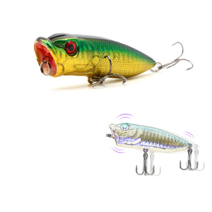 SANLIKE Colorful Hard Minnow Crank Big Mouth Fishing Lures Fishing Bait With 3D Eyes Wobbler Fishing Accessory