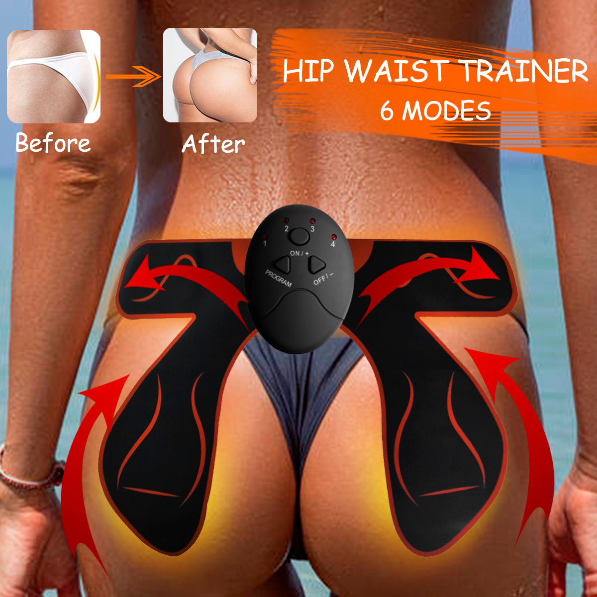 Smart Hip Trainer Bum Lift Up Electric Vibration Muscle Stimulator