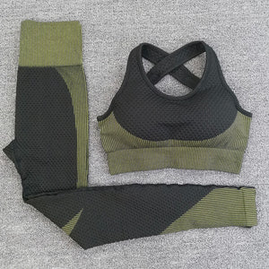 3pcs Sport Seamless Workout Set