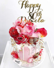 Load image into Gallery viewer, Happy 80th Pamela Custom Name & Age Birthday Cake Topper