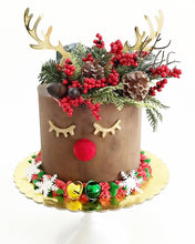 Load image into Gallery viewer, Reindeer Antlers Christmas Acrylic Cake Topper