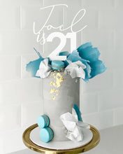 Load image into Gallery viewer, Joel is 21 Custom Name & Age Mix Fonts Birthday Cake Topper