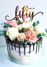 Load image into Gallery viewer, Custom Age Thirty Forty Fifty Sixty Seventy Swift Birthday Cake Topper