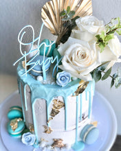 Load image into Gallery viewer, Mini Oh Baby Baby Shower Acrylic Cake Topper