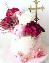Load image into Gallery viewer, Orthodox Cross Christening Cake Topper