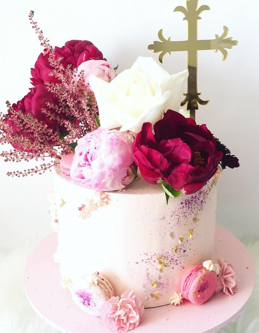 Orthodox Cross Christening Cake Topper
